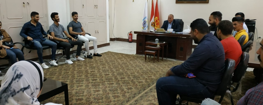 Meeting of Prof. Dr. Alaa El-Din Hamid, Dean of the College, with the  Students' Union members